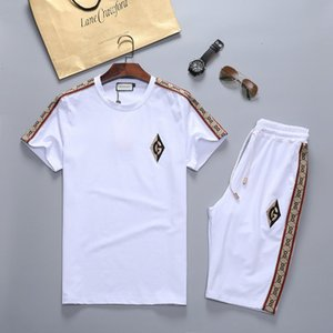2020 Fashion Men Clothing Sets Short Sleeve Printing tracksuit mens designer tracksuits Summer Wear mens tracksuit men sweatsuits joggers