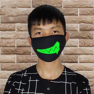 Mascarillas Boca respiradores Prueba Mascherine grueso de fluorescencia anti polvo frío unisex respiración cráneo Ventilación plegable Negro a29 2 18ry