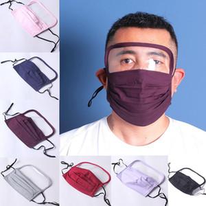 Nouveau design Masques visage coton Breath PM2,5 Valve Filtre Eye Shield Masque anti-poussière Masque Tissu lavable enfants Cartoon masque avec filtre