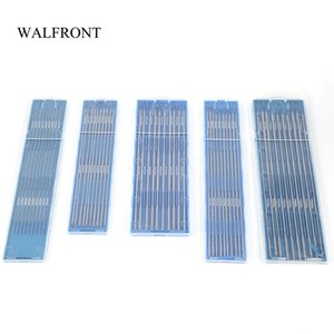Freeshipping 10pcs Box Welding Electrodes Rods 1.0 1.6 2.4mm Lanthanum Tungsten Electrodes Low Temperature Tig Soldering Rods Set