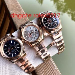 منتجات بازل للرجال أفضل جودة الكلاسيكية Topselling 42MM Sky-Dayeller GMT Workin 18K Gold Asia 2813 Momming Automatic Mens Watches 326938