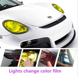Auto light sticker headlamp sticker color transmission color change auto light vinyl protective film sticker 10 colors optional 0.3*1m 9m