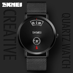 Skmei mode créatif nouveau concept pas de montre pointeur, la vente en ligne rouge chaud étudiant montre à quartz