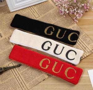 Elastisches Stirnband für Männer und Frauen NEW G Brief Pailletten Design grün rot rosa Haarbänder für Frauen Mädchen Headwraps rot