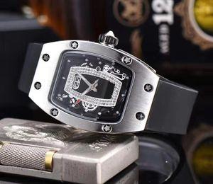 New Arrival womens watches diamond watch quartz movement wristwatches montre de luxe 31mm lady fashion sports young watch rubber strap
