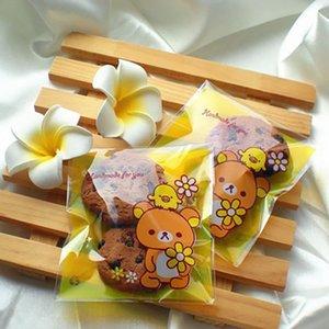 100шт Gift Easy мультфильм Медведь сумка для Sweets партии Goodie Сумки Favor Упаковка конфет Подарок Свадебная Бонбоньерка желтый Упаковка