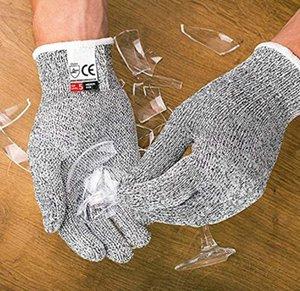 Nivel 5 anti-corte guantes de seguridad anti cortes puñalada resistente de acero inoxidable alambre de metal carnicero resistentes a los cortes de Seguridad Senderismo Guantes de alta calidad