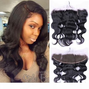 """High quality remy brazilian human hair size 13*2 13*4 lace closure and lace frontal Free middle part three part 8-20"""" in stock"""