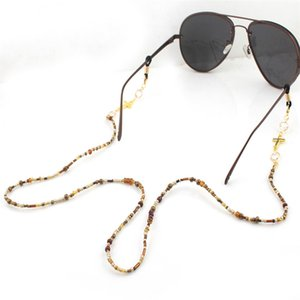 1Pcs 70cm Gold Plated Ring Cross Beaded Chain Sunglasses Chains Necklace Reading Glasses Cord Holder Neck Strap Rope For Eyewear