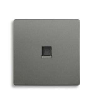 grey color telephone wall socket and telephone wall outlet
