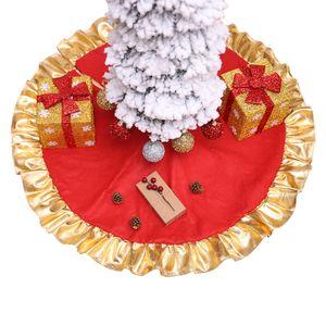 Árvore da pele do falso de Natal saia Snowy White Saia de árvore para decorações de Natal