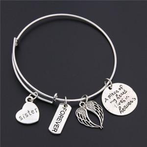 1pc Memorial brazalete Pérdida de Mom Daughter abuela hermana papá Recuerdo ajustable Simpatía pulsera brazalete de joyería de regalo