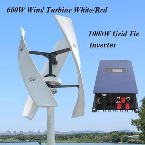 600w 12v 24v 48v 300rpm vertical Éolienne Maglev aérogénérateur Avec 1000W sur la grille Inverter Tie pour un usage domestique