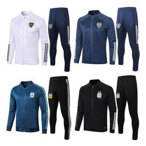 2020 Аргентина высокого качества Boca Juniors футбол обучение 2021 спортивная одежда мужская с длинным рукавом футбол спортивный костюм куртка качество Boca Thai