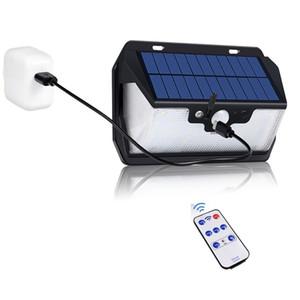 1000lm USB зарядка Сад Солнечный свет 55LED солнечный датчик движения свет водонепроницаемый солнечной безопасности Лампа для сада Патио двор Walkway Подъезд