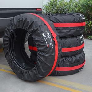 4pcs Hot / configurar Peças Pneus Tire tampa do carro Armazenamento Bag Pneu Acessórios Veículo Roda Protector de acessórios de reposição da tampa
