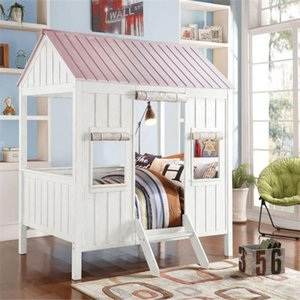 ACME Spring Cottage Full Bed in White Pink 37695F Modern Style In Stock Bed Fast Shipping