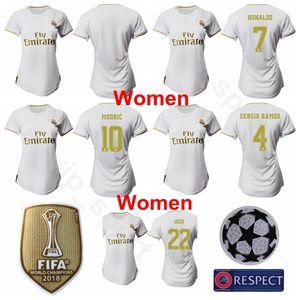 Frauen Real Madrid Jersey Fußball 2019 2020 Dame HAZARD SERGIO RAMOS BALLEN VARANE CARVAJAL MENDI ASENSIO JAMES MARCELO Fußball Trikotsets