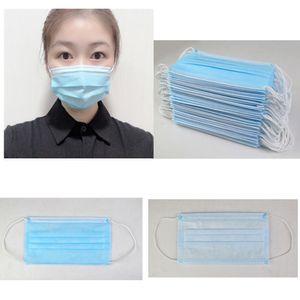Progettista Mask maschera chirurgica 3 strati adulti maschere monouso antipolvere tessuto non tessuto meltblown più maschere DHL