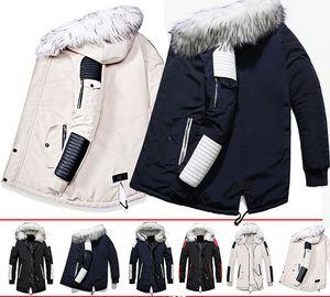 Long Coat Winter Jacket Men Thicken Warm Men Parkas Hombre Casual Long Coat Fur Hooded Collar Streetwear Outwear Male Jacket Dropshipping