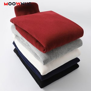 Men's Sweaters Casual Pullover Thick Cotton Keep Warm 2020 New Male Spring Autumn Solid Slim Fit Fashion Smart Sweaters MOOWNUC
