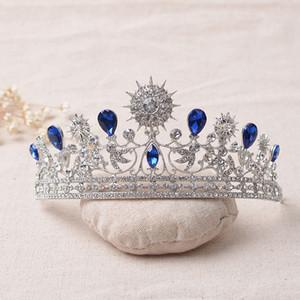 ewelry Accesorios joyería elegante del azul del Rhinestone tiara cristalina de la boda Quinceañera tiaras y coronas del concurso d pelo de lujo ...