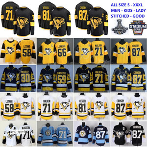 Stadium Series Pittsburgh Penguins Trikot 87 Sidney Crosby 71 Evgeni Malkin Phil Kessel Kris Letang Lemieux Matt Murray Guentzel Hockey