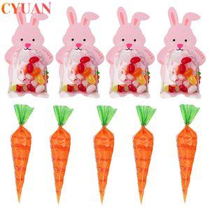 Cheap Gift Wrapping Forniture Felice Partito Decorazioni di Pasqua Coniglio Candy carota cono biscotto Borse Kids Party Favors Sacchetti regalo