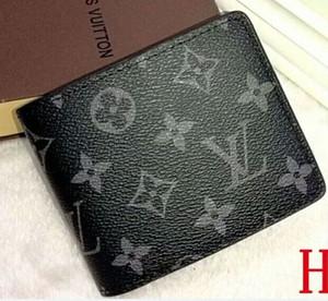 고품질 파리 확인 스타일 디자이너 남성 지갑 유명한 남성 럭셔리 Bifold 지갑 코인 포켓 여러 짧은 작은 지갑