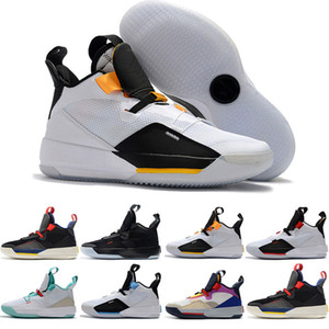 2019 Mens Basketball Shoes XXXIII PF 33 Future of Flight high quality 33 Tech Pack 33s Black Dark Smoke Grey Sail sneakers