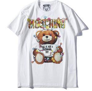 높은 품질의 새로운 브랜드 유럽 남성 / 여성 타이거 헤드 프린트 T 셔츠면 반소매 T 셔츠 여성 티 셔츠 탑