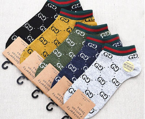 5 accoppiamenti / 10pcs / lotto di qualità i calzini di modo mens calzini donne unisex in cotone Coppia mens calze formato libero