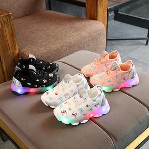 crianças sapatos de marca Raparigas Crianças Sapatos Leves Sapatos Desportivos Led Sapatos Luminosos miúdos ténis respiráveis
