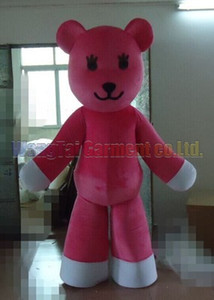 Pink Bear costume Free Shipping Adult Size, lovely Pink Bear mascot suit plush toy carnival anime movie classic cartoon mascot factory sales