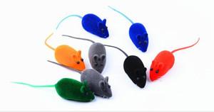 컬러 현실적인 애완 동물 몰려 사운드 마우스 항 - 우울증 고양이 장난감 몰려 마우스 장난감 100PCS / 많은 WL442