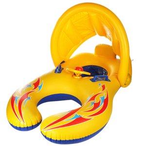 TOP! -Infant Ombrelle Siège parent-enfant interactif Natation Anneau piscine gonflable anneau gonflable Piscine rétractable A