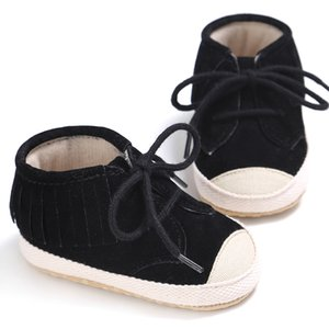 new Newborn Baby Toddler Shoes Fashion Laces Tassel Soft Sole First Walker Girl Boy Kids Non Slipping Canvas Shoes 100% Brand