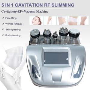 Nueva Promoción 5 en 1 vacío cavitación ultrasónica RF Radio Frecuencia de cavitación que adelgaza la máquina de liposucción máquina Cavi