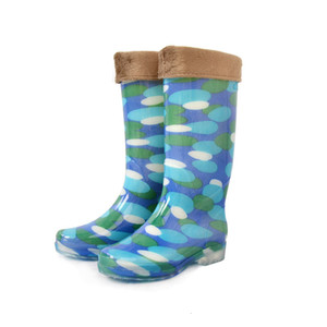 Hot Sale-us Velvet Keep Warm Non-slip Wear-resisting Boots Acid Resistance Alkali High Help Pvc Water Shoes