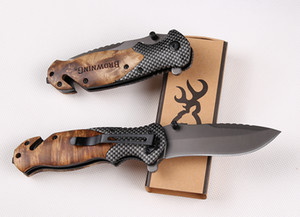 wood handle Browning X50 folding knife pocket knives Outdoor camping tools tactical pocket knife outdoor survival EDC TOOL man's gift KNIFE