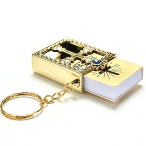 10pcs Gold Silver Mini Holy Bible Keychain Cross Keychain Real Bible as Gift for Baptism Holy Communion Guests Party Favors