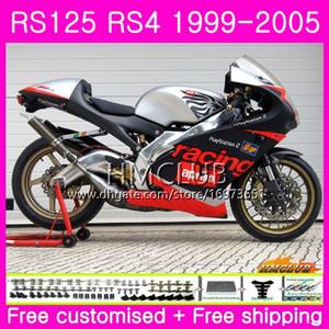 RS125R For Aprilia RS 125 1999 2000 2001 2002 2003 2005 40HM.5 RSV125R RS4 RS-125 RSV125 R RS125 99 00 01 02 03 04 05 silvery black Fairing
