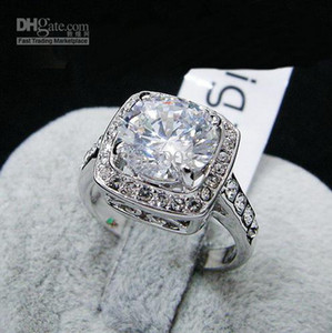 placcato in oro Anello, 5 colori Big simulato gemme anelli barretta del diamante, le donne di cristallo Swarovski impresso 18KGP gioielli d'oro pieno di moda