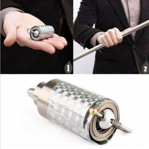 1pcs Portable di arti marziali magia metallo Pocket Bo Staff 110 centimetri Nuovo Pocket Magic Tricks fase bacchetta magica di trasporto