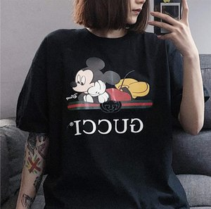 Designer shirt donne di marca di modo T delle parti superiori traspirante sciolto Pantaloncini maniche MK stampa del modello di lusso Slid Abbigliamento LR200333 Lively