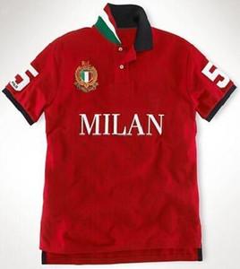 Moda uomo City Polo Camicie Big Cavallo Ricamo Milano / Roma / Londra / Dubai / Tokyo / New York / Paris Modulo Moda Maschio Polos Bianco nero S-XXL