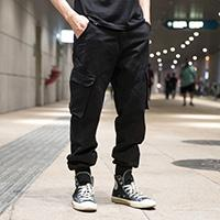 GG Overalls men loose straight summer thin section multi pocket casual pants mens cotton multi pocket outdoor trousers large size man