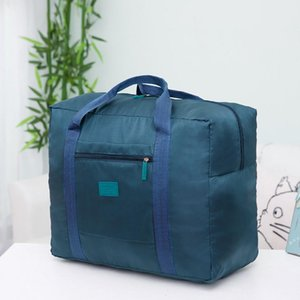 Packable Carry-On Duffel Bag Mulheres Folding Travel Bag Unisex bagagem do curso Bolsas WaterProof de grande capacidade saco # 25