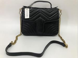 Üst Kalite 5 renk Kadınlar Omuz çantası altın ve gümüş zincir çanta Crossbody Saf renk çanta crossbody Messenger çantası çanta cüzdan 26C