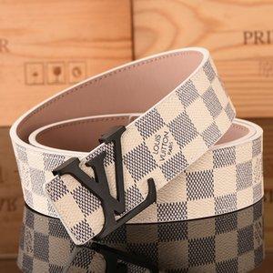 cinturones de diseño cinturones de lujo para hombreLouisgran cinturón de hebillaVuittonla parte superior de la moda para hombre del LV cinturones de cuero del envío libre al por mayor